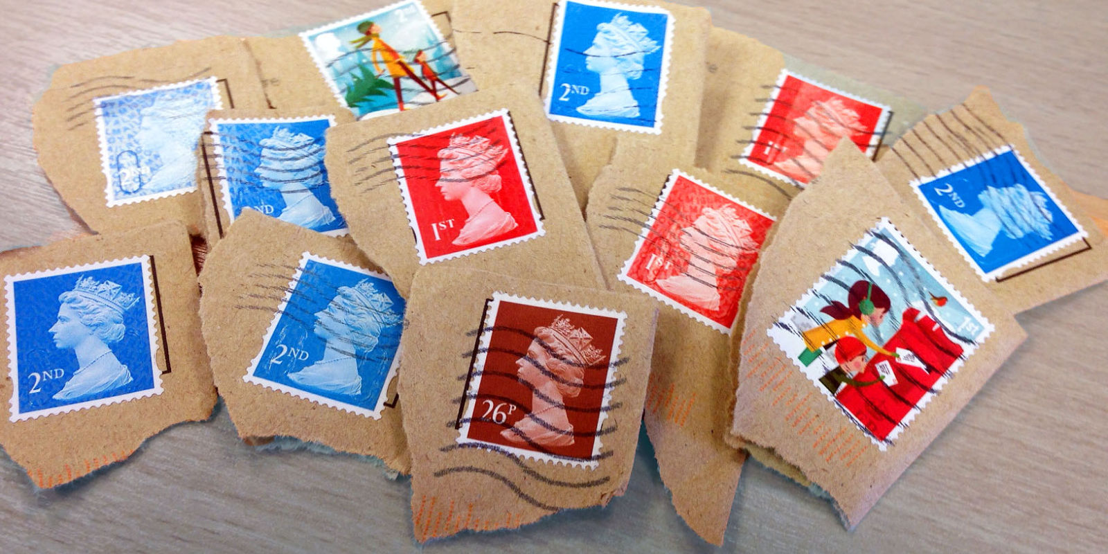 Photo of used stamps